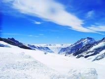 Montagna della neve di Interlaken Svizzera Fotografia Stock