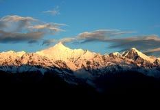 Montagna della neve di Mei-Li Peak Fotografia Stock Libera da Diritti