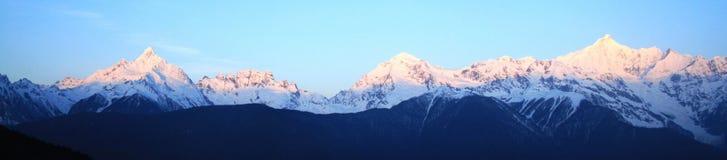 Montagna della neve di Meili (principe Snow Mountain) Immagine Stock