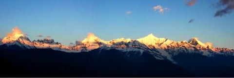 Montagna della neve di Meri Fotografie Stock