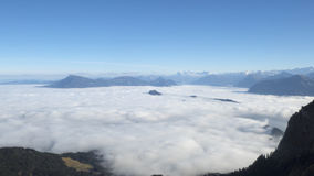 Montagna della neve di Pilatus della Svizzera Fotografie Stock Libere da Diritti