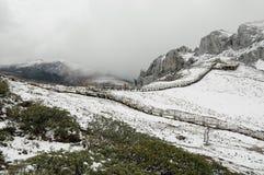 Montagna della neve di Shika immagini stock