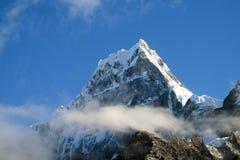 Montagna della neve in Huascaran, viaggio di Santa Cruz nel Perù Immagine Stock Libera da Diritti