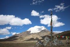 Montagna della neve nel Tibet Fotografia Stock Libera da Diritti