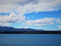 Montagna della neve in Nuova Zelanda fotografia stock