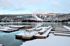 Montagna della Quebec di inverno immagine stock libera da diritti