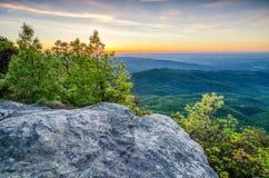 Montagna della roccia della Tabella, Predawn, Nord Carolina Immagini Stock