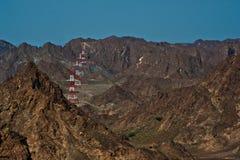 Montagna della roccia nell'Oman Fotografia Stock