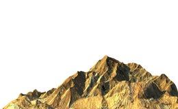Montagna della roccia su fondo bianco Fotografia Stock