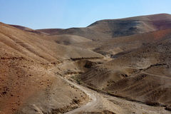Montagna della sabbia in Israele Fotografie Stock Libere da Diritti