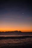 Montagna della Tabella al tramonto Fotografie Stock