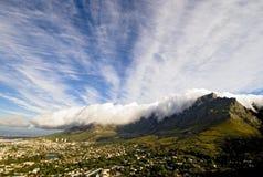 Montagna della Tabella e la tovaglia Fotografia Stock