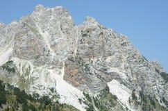 Montagna delle alpi albanesi Fotografia Stock Libera da Diritti