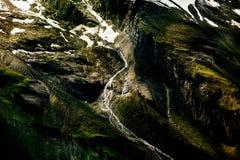 Montagna delle alpi del primo piano Fondo Immagini Stock