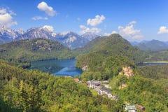 Montagna delle alpi della Baviera Fotografia Stock