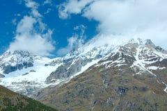 Montagna delle alpi di estate Fotografia Stock Libera da Diritti
