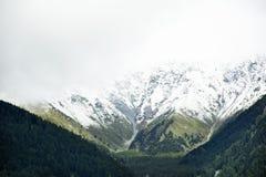 Montagna delle alpi di Otztal nella città di Senales a Bolzano, Austria Immagini Stock Libere da Diritti