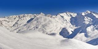 Montagna delle alpi di Snowy Fotografia Stock Libera da Diritti