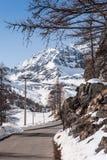 Montagna delle alpi nell'inverno Immagine Stock Libera da Diritti