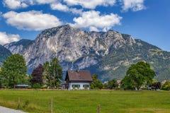 Montagna delle alpi vicino a Altaussee, Austria Fotografia Stock Libera da Diritti