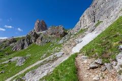 Montagna delle dolomia di estate Immagini Stock