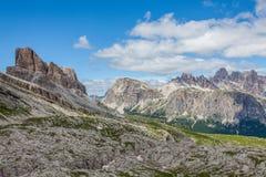 Montagna delle dolomia di estate Fotografia Stock