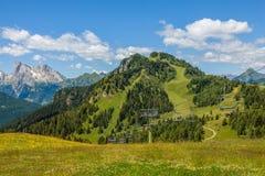 Montagna delle dolomia di estate Fotografie Stock