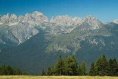 Montagna delle dolomia di Trentino Fotografie Stock