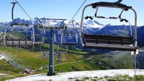 Montagna delle dolomia nelle alpi italiane. Immagini Stock