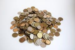 Montagna delle monete immagine stock
