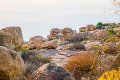 Montagna delle rocce in Hampi Immagini Stock Libere da Diritti