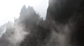 Montagna dello Shan del Huang nel mare della nube Immagine Stock Libera da Diritti