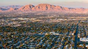 Montagna di alba di Las Vegas fotografia stock libera da diritti