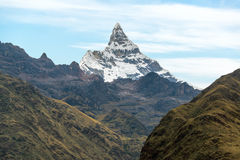 Montagna di Alpamayo Immagini Stock