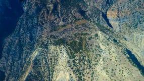 Montagna di Annapurna dalla vista superiore Fotografia Stock