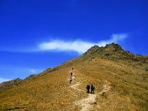 Montagna di ascensione fotografie stock