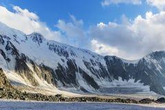 Montagna di Belukha al tramonto Altai, Russia Fotografia Stock Libera da Diritti