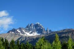 Montagna di Cerro Castillo, Cile fotografia stock libera da diritti