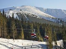 Montagna di Chopok in Tatras basso in Jasna slovakia immagine stock libera da diritti