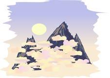 Montagna di cielo Immagini Stock Libere da Diritti