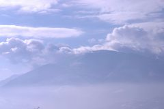 Montagna di cielo Fotografie Stock