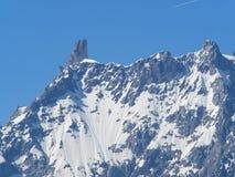 Montagna di Dent du Geant del massiccio Italia Francia di Blanc del supporto Immagini Stock Libere da Diritti