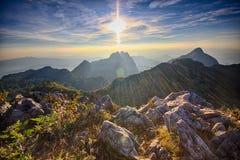 Montagna di Doi Luang Chiang Dao, Tailandia Immagine Stock