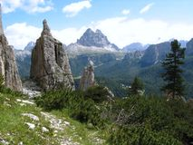 Montagna di Dolomiten fotografia stock libera da diritti