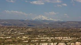 Montagna di Erciyes e di Cappadocia Immagini Stock Libere da Diritti