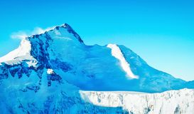 Montagna di Everest del picco di montagna più alta nel mondo P nazionale Immagini Stock