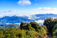 Montagna di Fansipan Fotografia Stock