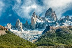 Montagna di Fitz Roy, EL Chalten, Patagonia, Argentina Fotografie Stock