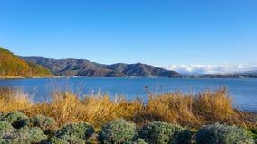 Montagna di Fuji nel lago Kawaguchiko, montagna di Fuji del Giappone Immagine Stock Libera da Diritti