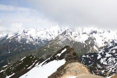 Montagna di Grossglockner dell'austriaco, Carinzia Immagini Stock